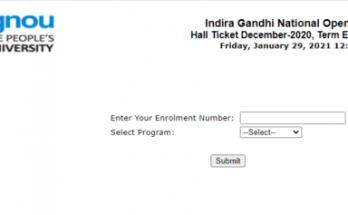 IGNOU Admit Card 2021 : IGNOU Hall Ticket for TEE February 2021