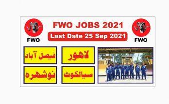 Frontier Works Organization FWO Jobs 2021 Online Apply